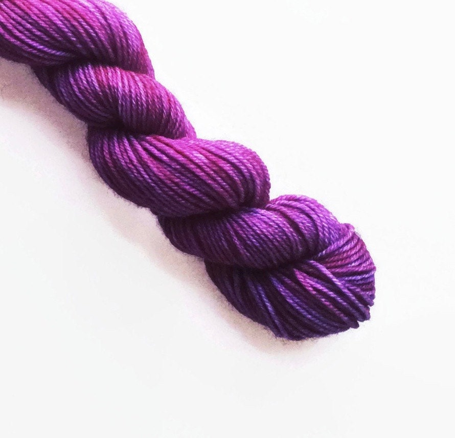 boysenberry hand dyed yarn