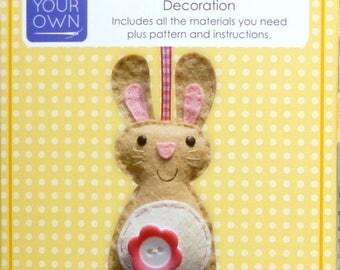 Bunny Rabbit Mini Kit - Felt sewing kit