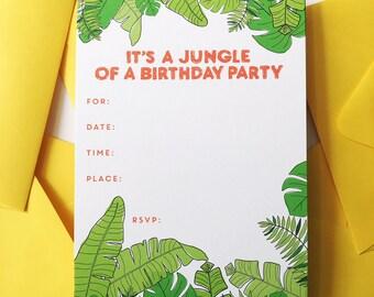 Jungle Birthday Party Invite