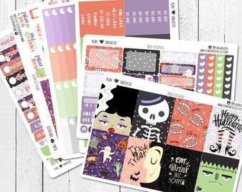 Halloween Planner Sticker Kit, October Weekly Stickers, for use in Erin Condren Life Planner™, Happy Planner, Travelers Notebook, Bujo