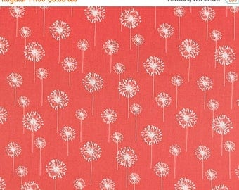ON SALE - 10% Off Premier Prints Small Dandelion Coral Home Decorating Fabric By The Yard
