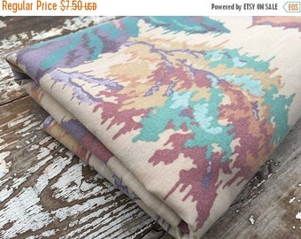 CRAZY SALE- Eighties Floral Fabric-Reclaimed Bed Linens-Vintage Fabric