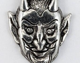 16mm Antique Silver Handsome Devil Charm #CMB770