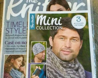 NIP The Knitter Magazine Issue 95 with free Men's Knit Pattern Pamphlet