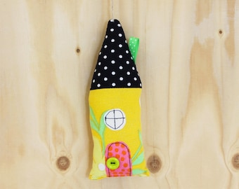 House ornament, yellow, SALE