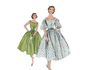 50s Full Skirt Dress pattern SALE vintage Cocktail Dress pattern 36-28-38 Vogue 9205
