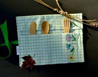 Zero Waste Utensil Kit/Bamboo/Eco/Green Living/ Travel/Picnics/Backpacking/ Hiking