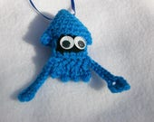 Bright Blue Squid Ornament
