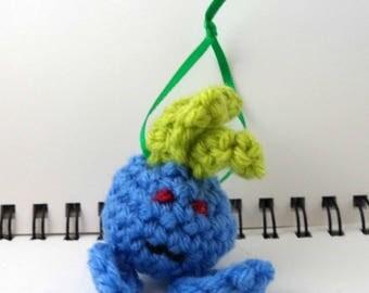 Crocheted Plush Blue Radish Ornament