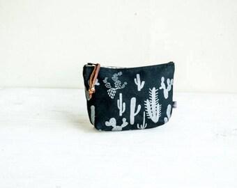 Cosmetic Bag—Cactus Print