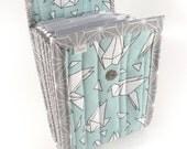 Circular Needle Case - Paper Crane - Needle Holder Needle Wallet Circular Needle Organizer Organiser Aqua Gray Origami