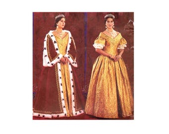 Butterick 3713 Queen Victoria Early 19th Century Historical Costume Sewing Pattern Size 12 - 14 - 16 Bust 34 - 36 - 38 UNCUT