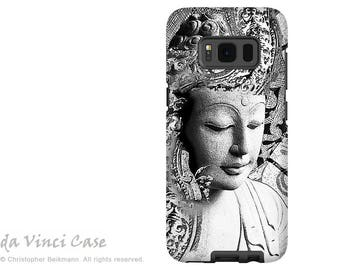 Black and White Buddha Galaxy S8 Case - S8 PLUS Case - Dual Layer Two Piece Zen Buddhist Tough Case - Bliss of Being