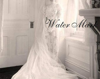 Bride at window*Real photo*Gorgeous* instant  digital download*Shower*thank you*greeting card*gift card*pillow*sachet