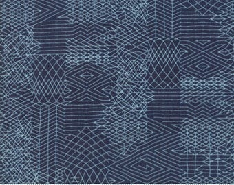 Biscuits and Gravy - You Be You in Picnic Blue: sku 30484-19 cotton quilting fabric by BasicGrey for Moda Fabrics