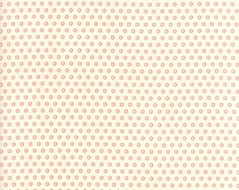 Hazel and Plum - Posies in Cream and Pomegranate Red: sku 20294-27 cotton quilting fabric by Fig Tree and Co. for Moda Fabrics