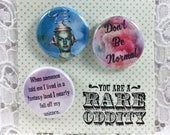 Don't Be Normal Pins-Be Yourself Pins-Be Authentic Pins-Weirdo Pin Set-Shine Bright Pins-Be Strange Pins-You are Fabulous Pins