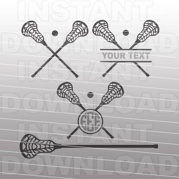 Lacrosse Stick Svg File Lacrosse Sticks Monogram Svg
