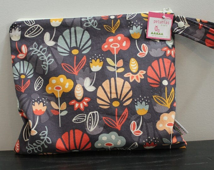 Wet Bag wetbag Diaper Bag ICKY Bag wet proof grey coral floral gym bag swim cloth diaper zipper gift newborn baby child kids summer beach