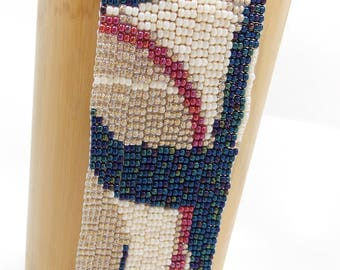 Patriotic Sails/Peyote Bracelet/Beaded Bracelet/Beadwoven Bracelet/Handmade Jewlery/Patterned Bracelet