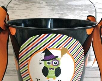 ON SALE Custom Halloween Bucket