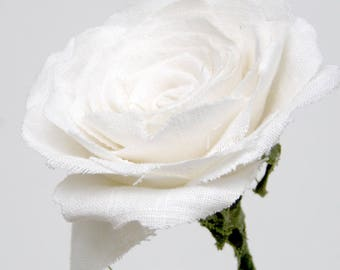 4th Anniversary Flower for Wife Long Stem Everlasting Linen Rose Check processing and delivery times