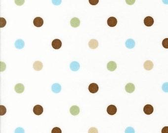 SALE Robert Kaufman Cozy Cotton Polka Dots Chocolate FLANNEL Fabric - Half Yard (Last One)