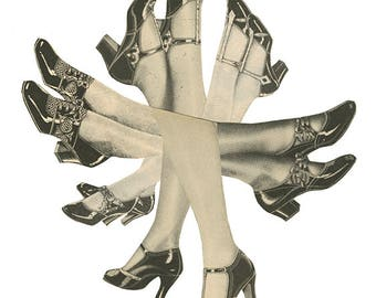 Kick up your heels and have a good time.  Original collage by Vivienne Strauss.