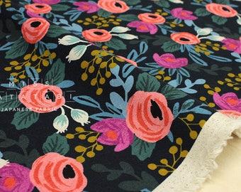 Cotton + Steel Menagerie canvas - rosa - navy - 50cm