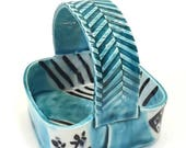 August Sale Square basket with oribe glaze made in NYC.