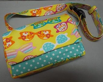 Fanny Pack Bag - Travel Bag - Hip Bag - Utility Bag - Dog Walking Bag - Beach Time Fabric