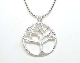 Welcome Summer Sale Tree of Life Family Tree Sterling Silver Charm Pendant Customize no. 2034