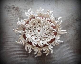 Lace Stone, Crocheted, Table Decorations, Original, Handmade, Home Decor, Small, Fringe, Monicaj