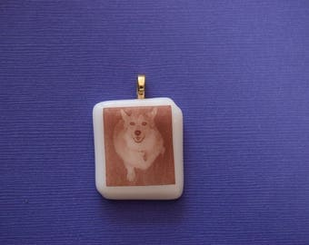 Fused Glass Pendant or Magnet With a Photo of Your Dog, Children, Grandchildren, Etc  Permanently Fused In Glass