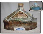Vintage 1969 Jim Beam Decanter of Bonanza Ponderosa Ranch House, Lake Tahoe, Nevada, home decor, Cartwright Family