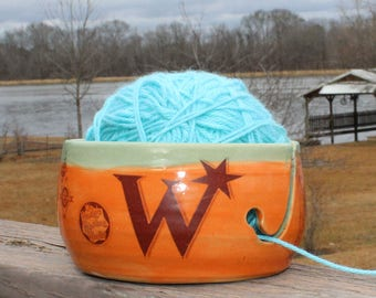 MADE TO ORDER - Weasley Twins Ceramic Yarn Bowl