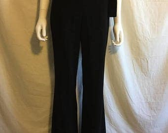 Closing Shop 40%off SALE BEBE 90s pants slacks black with slits  size 6