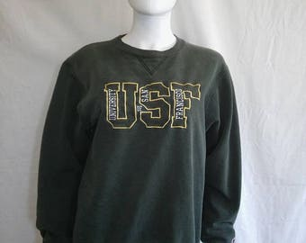 Closing Shop 40%off SALE University of San Francisco California USF College Sweatshirt Green