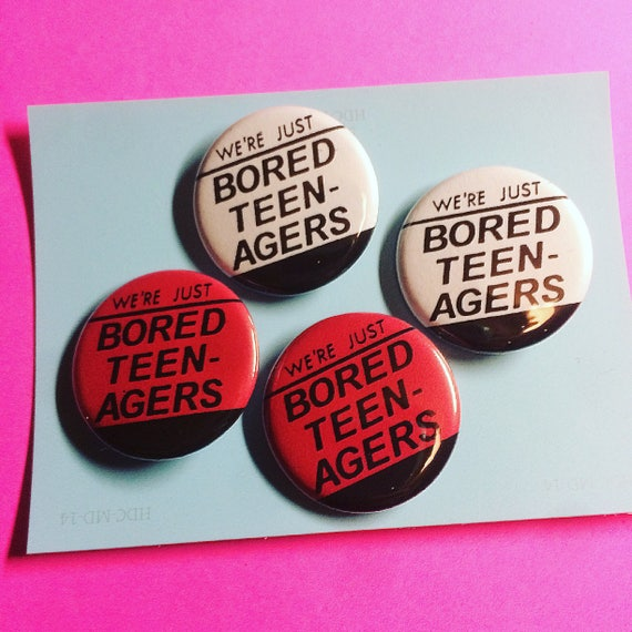 The Adverts 'Bored Teenagers' Pin