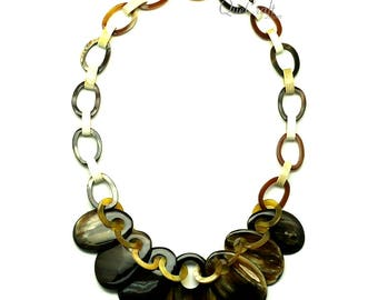 Horn Chain Necklace - Q12978