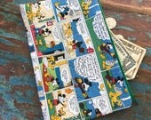 medium zipper pouch disney mickey comic