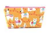 Llama Cosmetic Bag, Zip Pouch, Makeup Bag, Pencil Case, Zipper Bag, Fun Student Gift