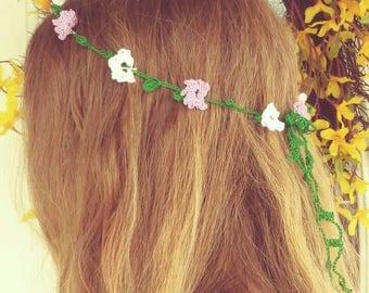 Crochet Flower hair tie