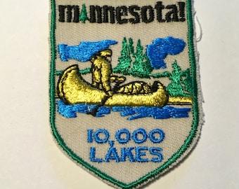 Vintage Minnesota Souvenir Travel Patch
