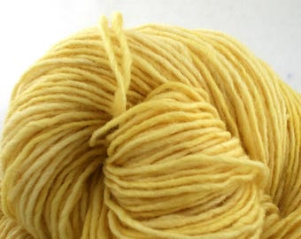 Valkill Hand Dyed DK weight NYS Wool 252 yds 4oz Banana Pudding