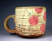 Gnome Mug with Red Polka Dots