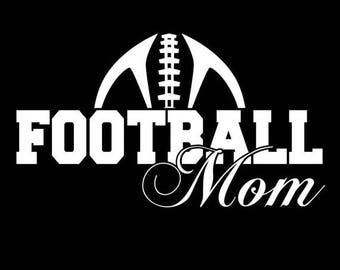 Football Mom Shirt Black with Saying, Funny, Cool, Free shipping!
