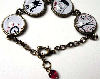 Pierrot and the tree of hearts BR005 bracelet