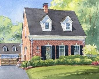 9x12 Home Watercolor Portrait