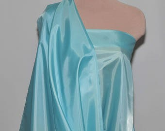 Poly Lining fabric 58 inches wide..Light Turquoise  used for lining  jackets, skirts, dresses. vests, soft, light weight